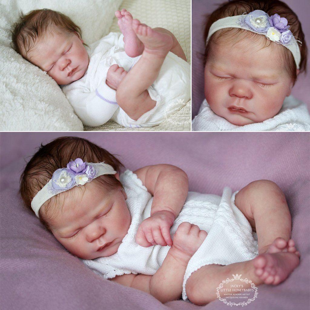 "Realborn® Lavender Awake DIY 19/"" Reborn Doll Parts Kit"