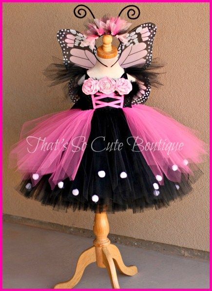 Monarch Butterfly Tutu Dress-butterfly, tutu dress, pink, monarch, costume, halloween