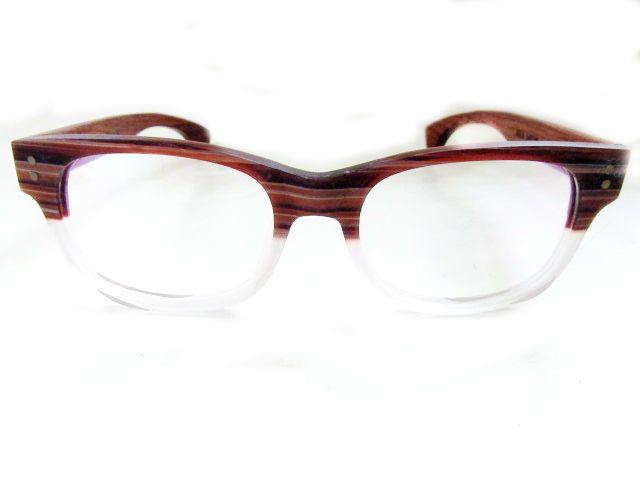 dda50f5c04 Way farer acetato y madera, café y blanco transparente. | Lentes ...