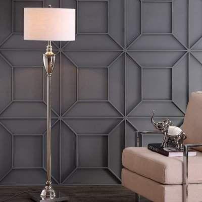 Charlton Home Millom 62  Floor Lamp - Lamps living room, Wall panel design, Floor lamp, House interior, Wall paneling, Decorative wall panels -