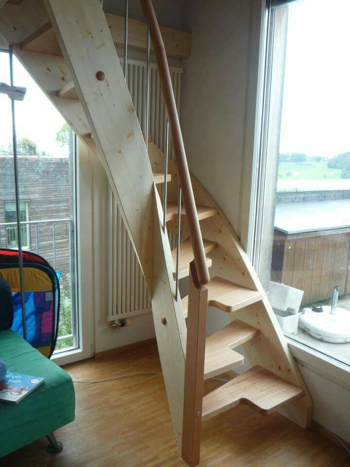 Pin By Kimmilli On Space Saving Stairs Tiny House Stairs Small Staircase Floating Stairs