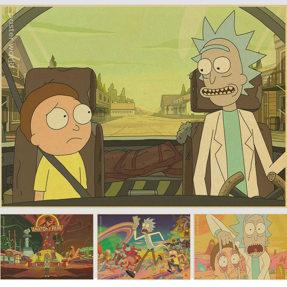 Living room home wall decoration retro Poster Rick and Morty Adult ...