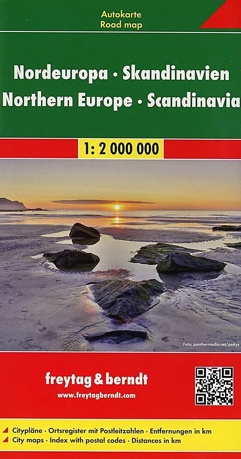 Freytag Berndt Autokarte Nordeuropa Skandinavien Europa Del