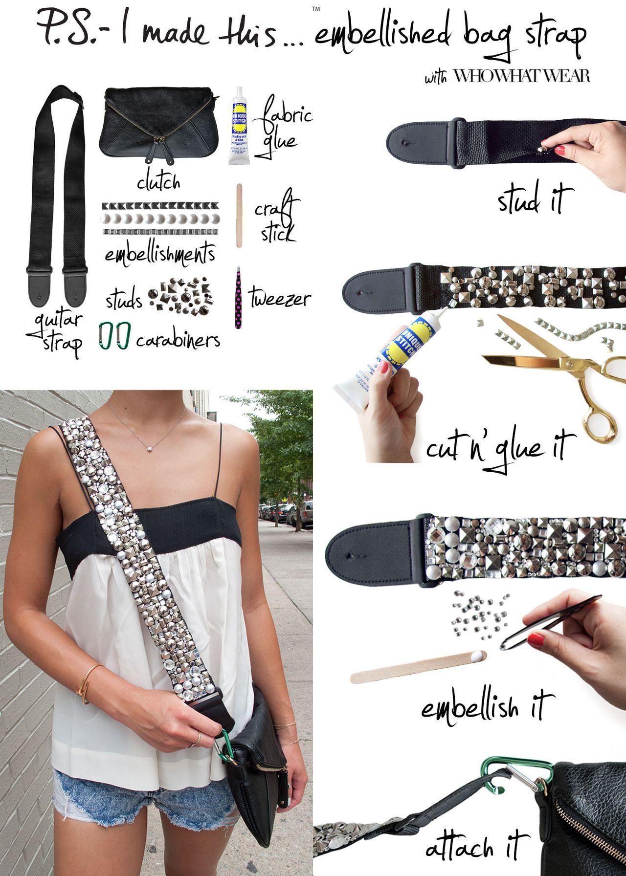 DIY: embellished bag strap