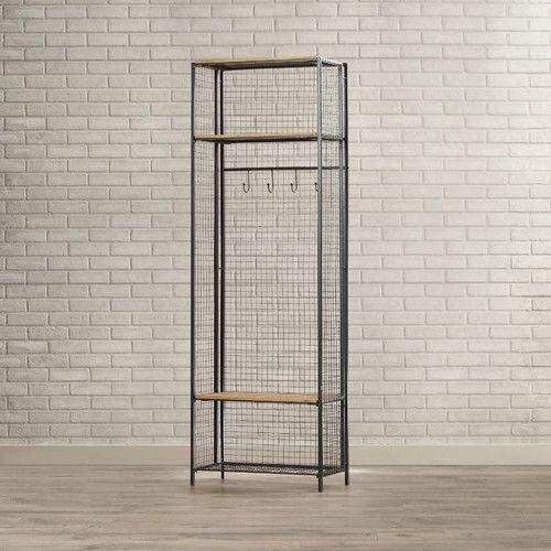 Elegant Found It At AllModern   Grid Metal/Wood Locker Coat Rack