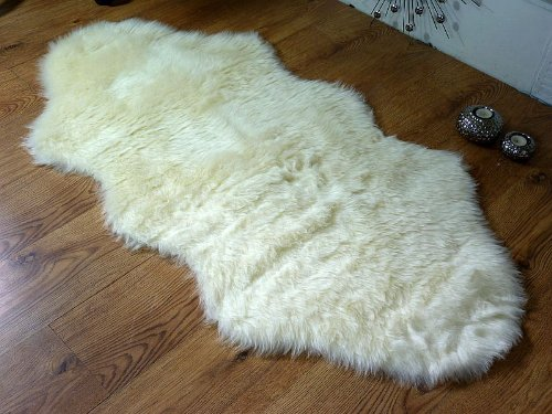 Rugs Supermarket Cream Ivory Faux Fur