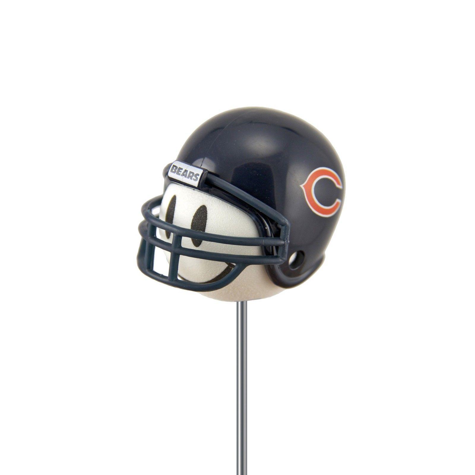 $4 66 - Chicago Bears Football Helmet Smiley Antenna Or