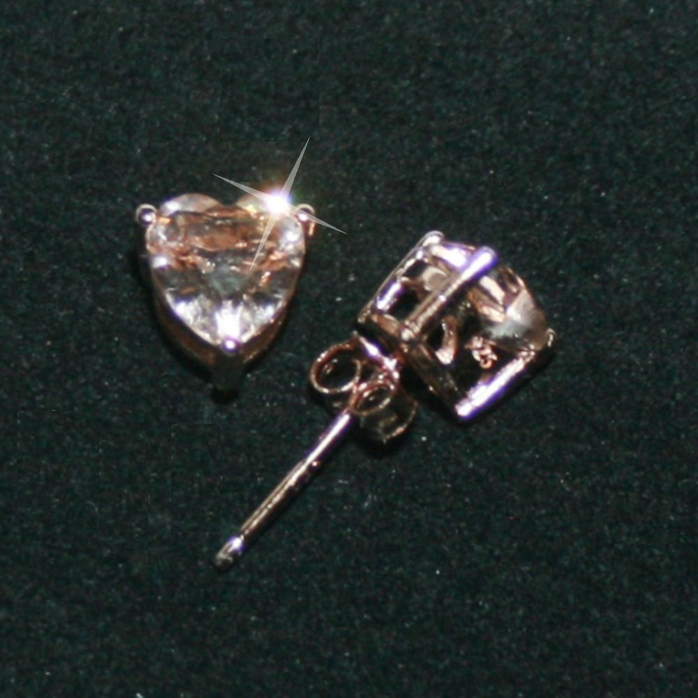 stud l from diamond gold morganite pink peach cushion pick rose earrings
