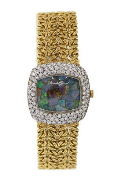 vintage bueche girod women s 25mm 18k yellow gold diamond watch vintage bueche girod women s 25mm 18k yellow gold diamond watch