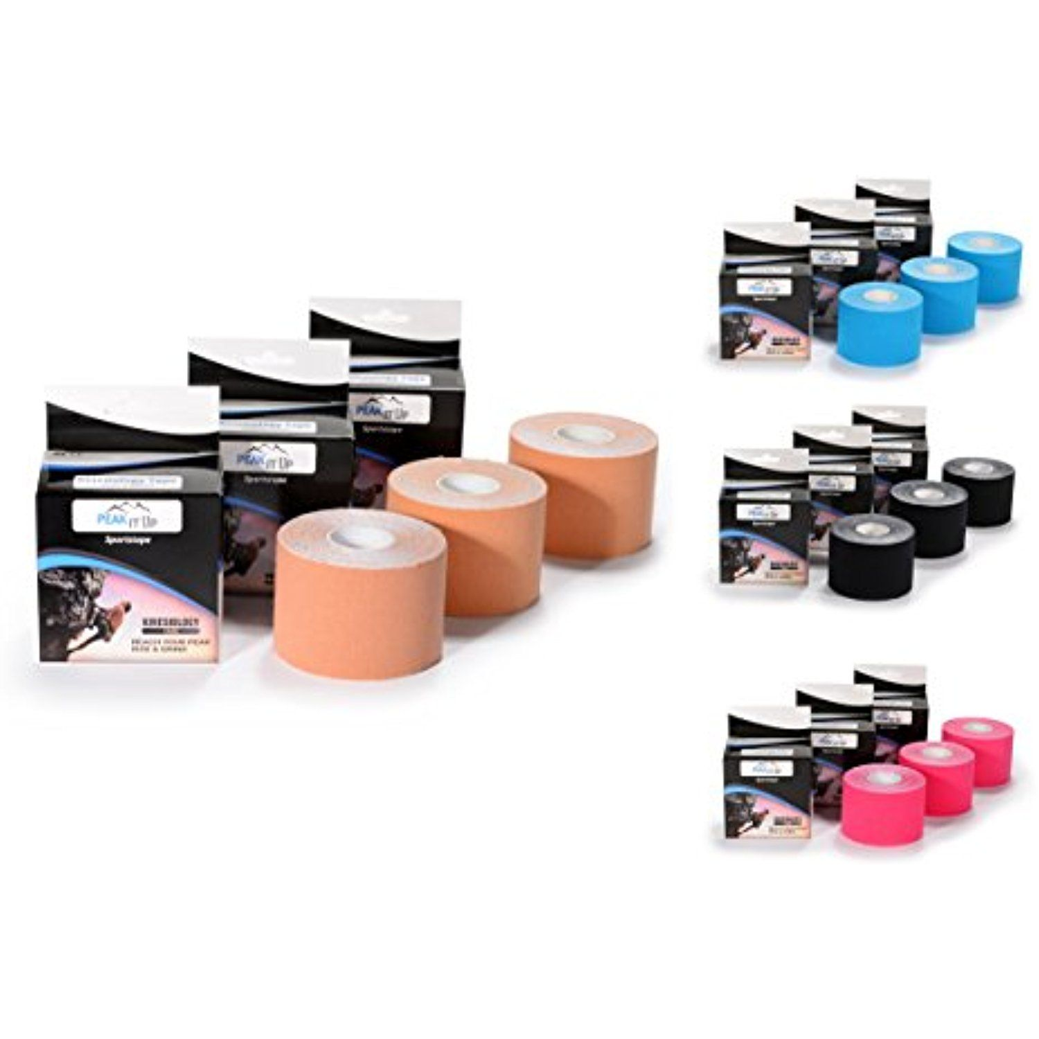 "Professional Grade Kinesiology Tape 2"" x 16 5 3 Pack Read more"
