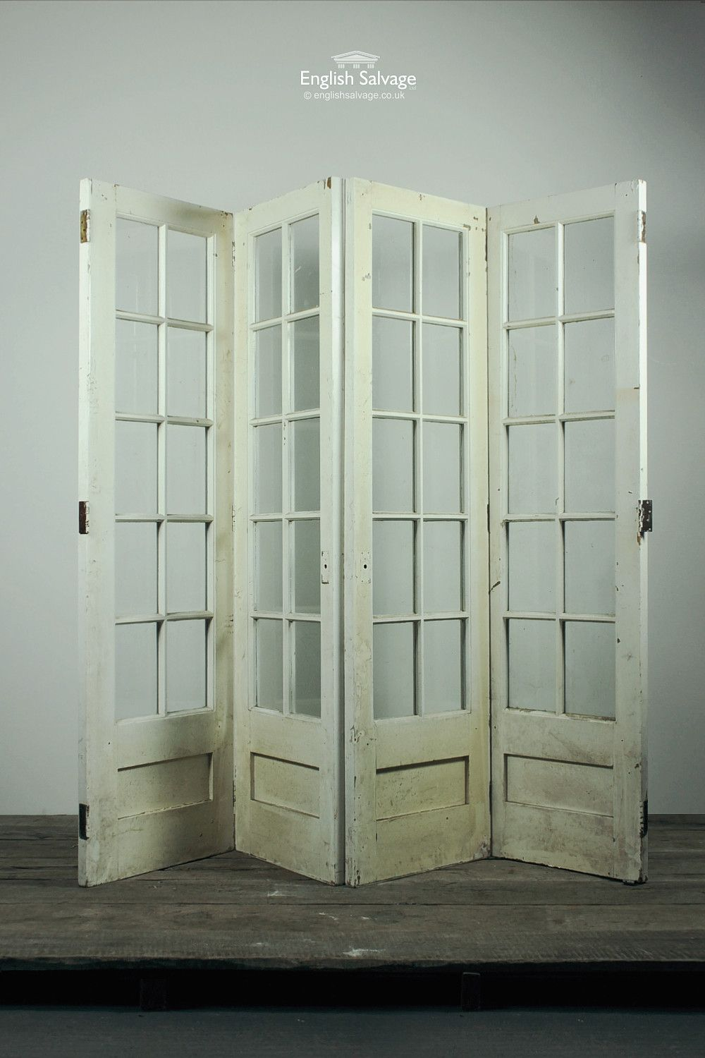 Fan Fold French Glazed Doors  Room Dividers  Decorating