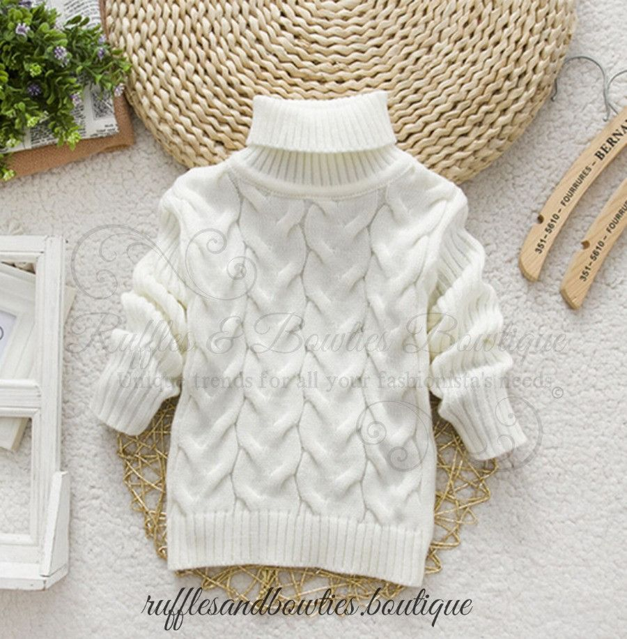 PRE ORDER - Girls Baby Turtle Neck Fall Winter Pull Over Sweater ...