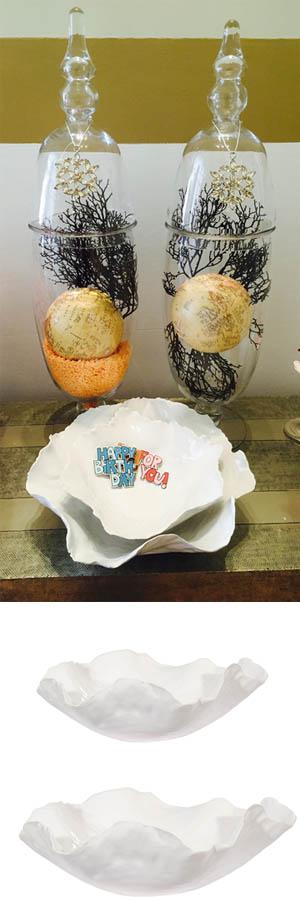Cor: Branco   Material: Cerâmica  Peso: 650 g  Medidas: Diâmetro - 26 cm e altura 8 cm   Medidas: Diâmetro - 32 cm e altura 11 cm