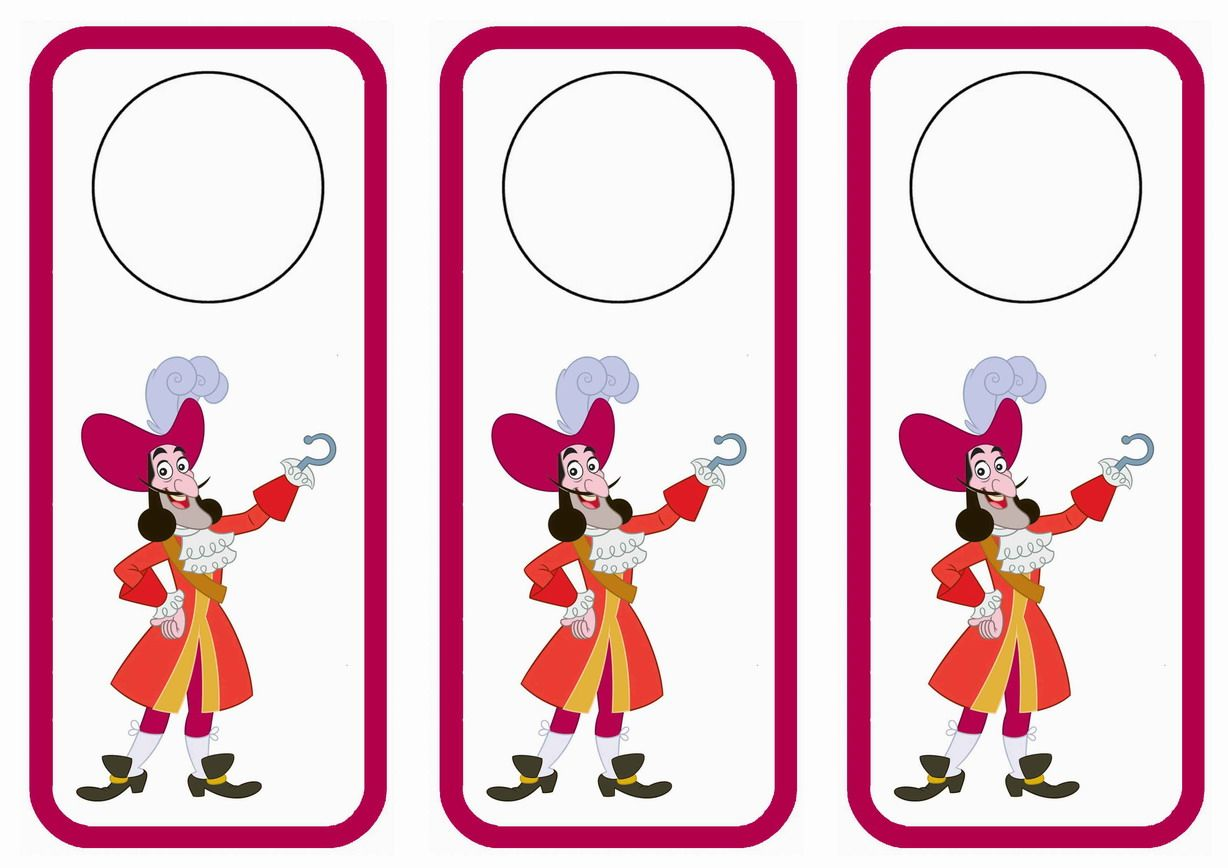 Jake and the never land pirates themed free printable door hangers