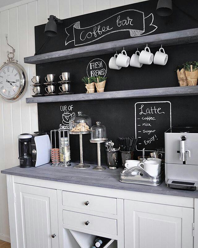 Pin by Marline Smallwood on Coffee bar   Coffee bar home, Coffee bars in kitchen, Bars for home
