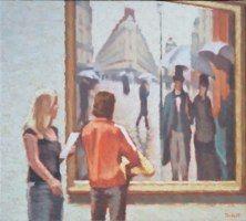 Jour de pluie II. 2009 huile sur toile 54x60 cm