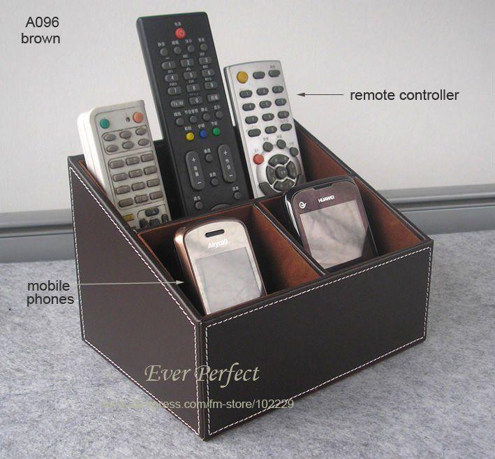 Amazing Multifunction Faux Leather Desk Organizer Storage Box Case Remote  Controllers Storage Box A096 In Storage