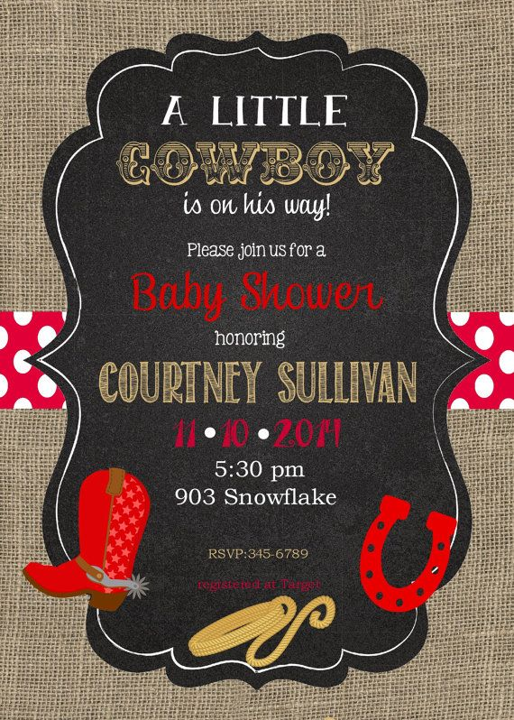 Cowboy Themed Baby Shower Invitations diabetesmanginfo
