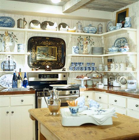 Arrange Shelves To Showcase Collections Dream Kitchens White
