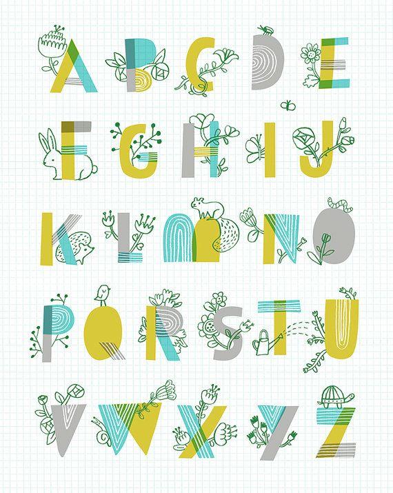 Spring garden alphabet by sarah walsh spring gardens for Alphabet garden designs