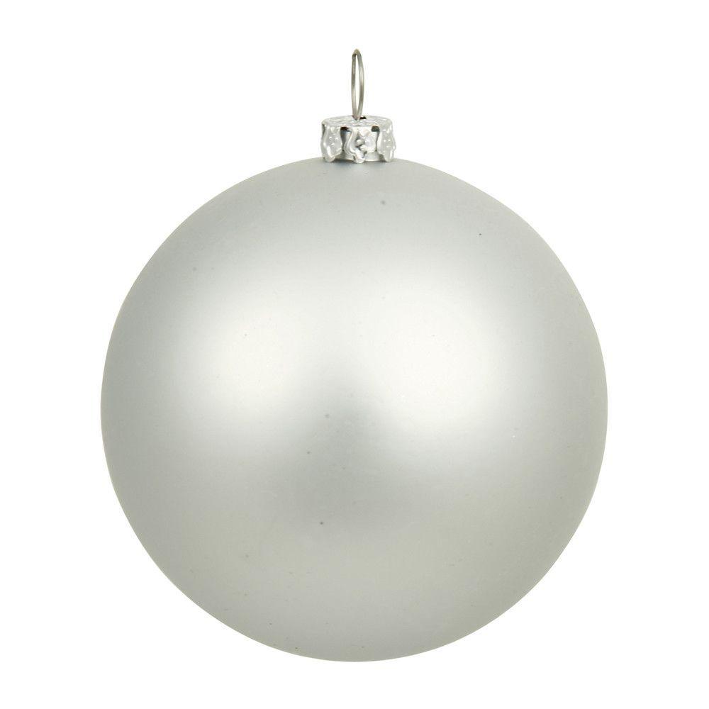 White christmas tree ball ornaments - Matte Silver Splendor Uv Resistant Commercial Shatterproof Christmas Ball Ornament 6 150mm