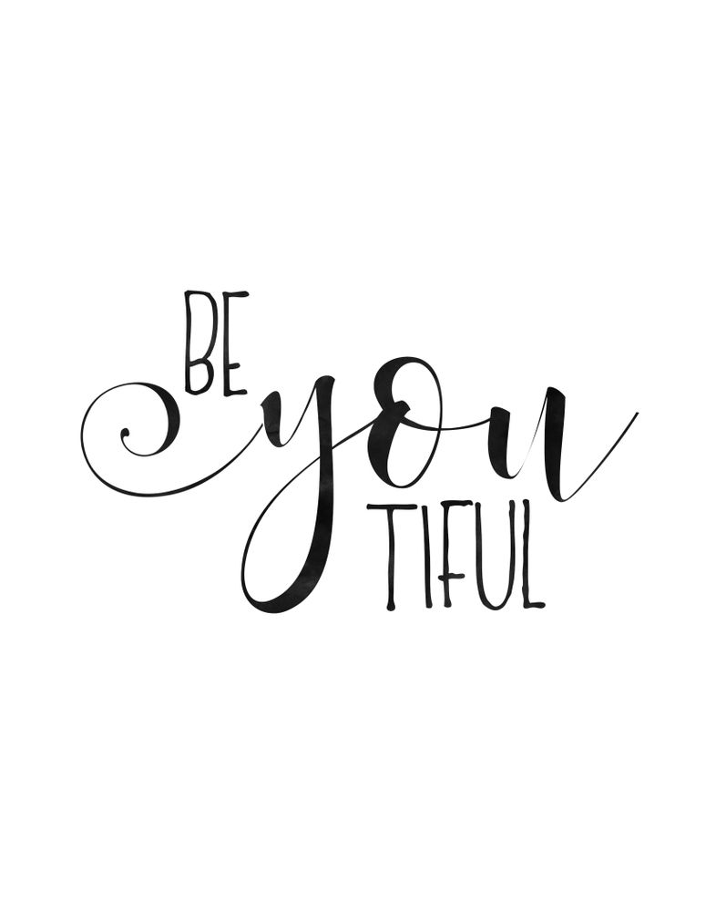 BE YOU TIFUL, Girls Room Decor,Girly Quote,Girls Bedroom Decor,Women Gift,Hello Beautiful,Morning Qu Art Print by TypoHouse