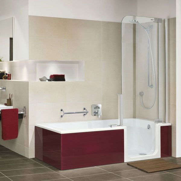 Combine Bathroom Colors With Confidence: TWINLINE 2 Shower Bathtub Combination. A Fully-fledged Bath Is Combined With A Complete Shower