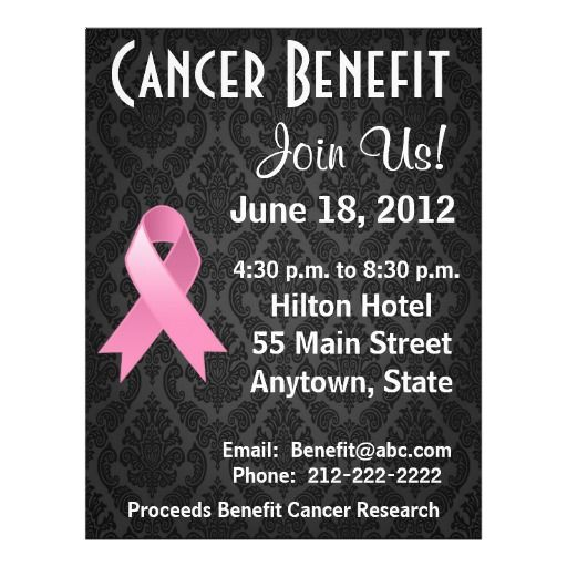 Breast Cancer Personalized Benefit Flyer By Cancerapparelgifts