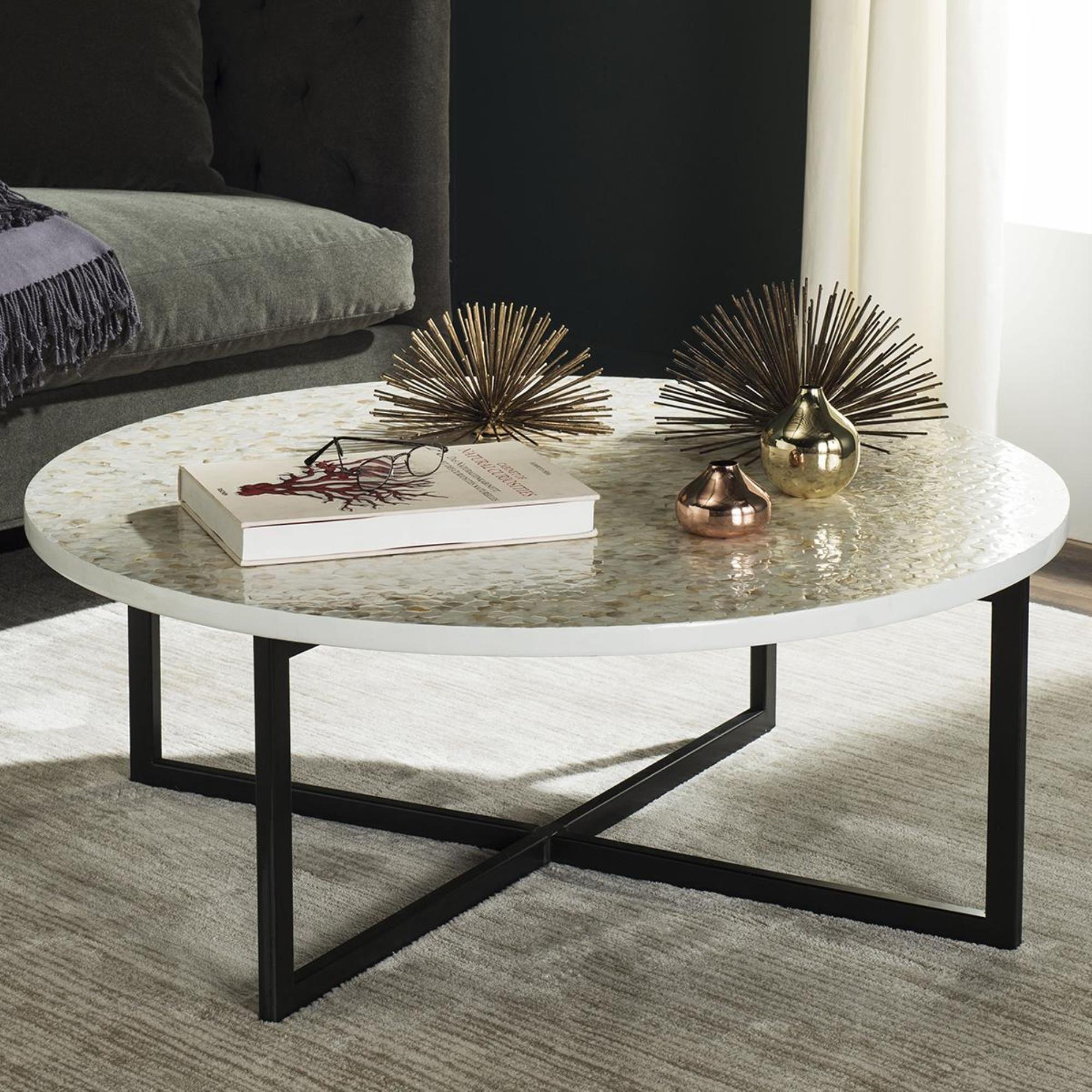 Safavieh Cheyenne Coffee Table In Cream Nfm Coffee Table Coffee Table White Living Room Decor [ 2000 x 2000 Pixel ]