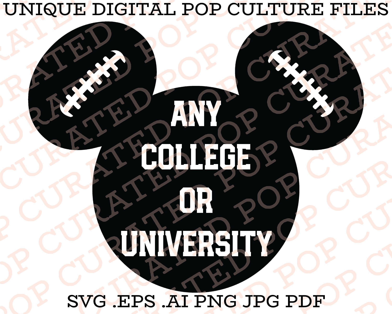 College Football Ncaa Disneyland Football Mickey Mouse Walt Etsy College Football Nfl Team Colors Custom Tshirts