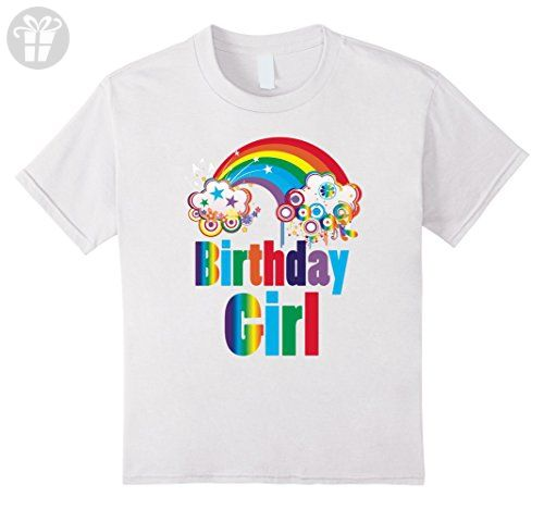 Kids Rainbow Birthday Girl T Shirt