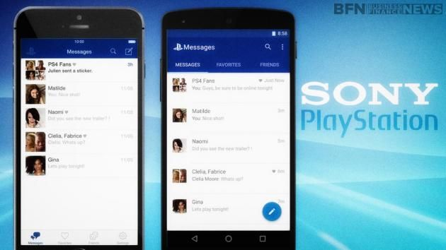 The PlayStation Messages app on iOS and Android makes it