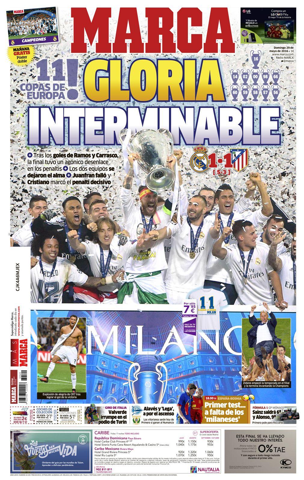 Final Champions 2016 La Undécima del Madrid, en las