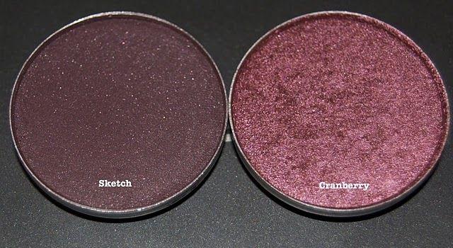 Cranberry and Sketch   MAC eyeshadows. So pretty together.