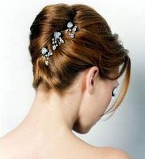 Wedding Hairstyle Medium Length Hair Updos With Accessories
