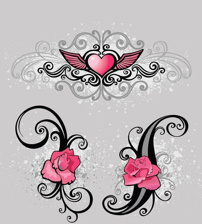 Image Detail For   Pink Rose Tattoo Design | Tattoos   1000u0027s Of Tattoo  Designs And