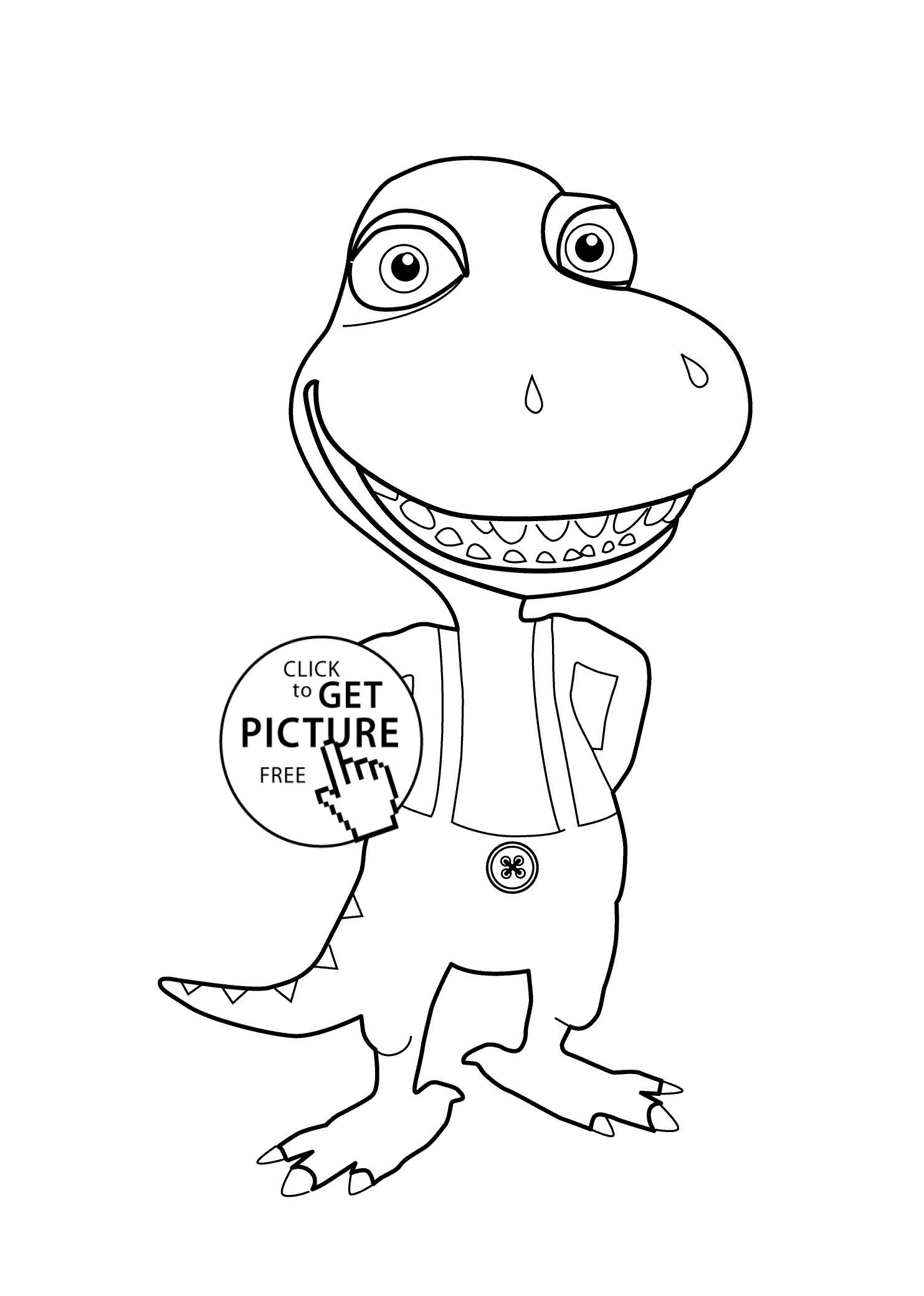 Dinosaur Coloring Pages Dinosaur Train Coloring Page For