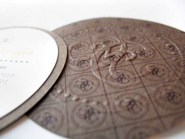 Round embossed card honey bees pinterest rounding embossed round embossed card reheart Choice Image