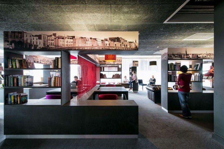 Google Dublin | Open but separate work areas | #InteriorDesign | #Work | #Office | #Modern | #WorkSpace | #Library