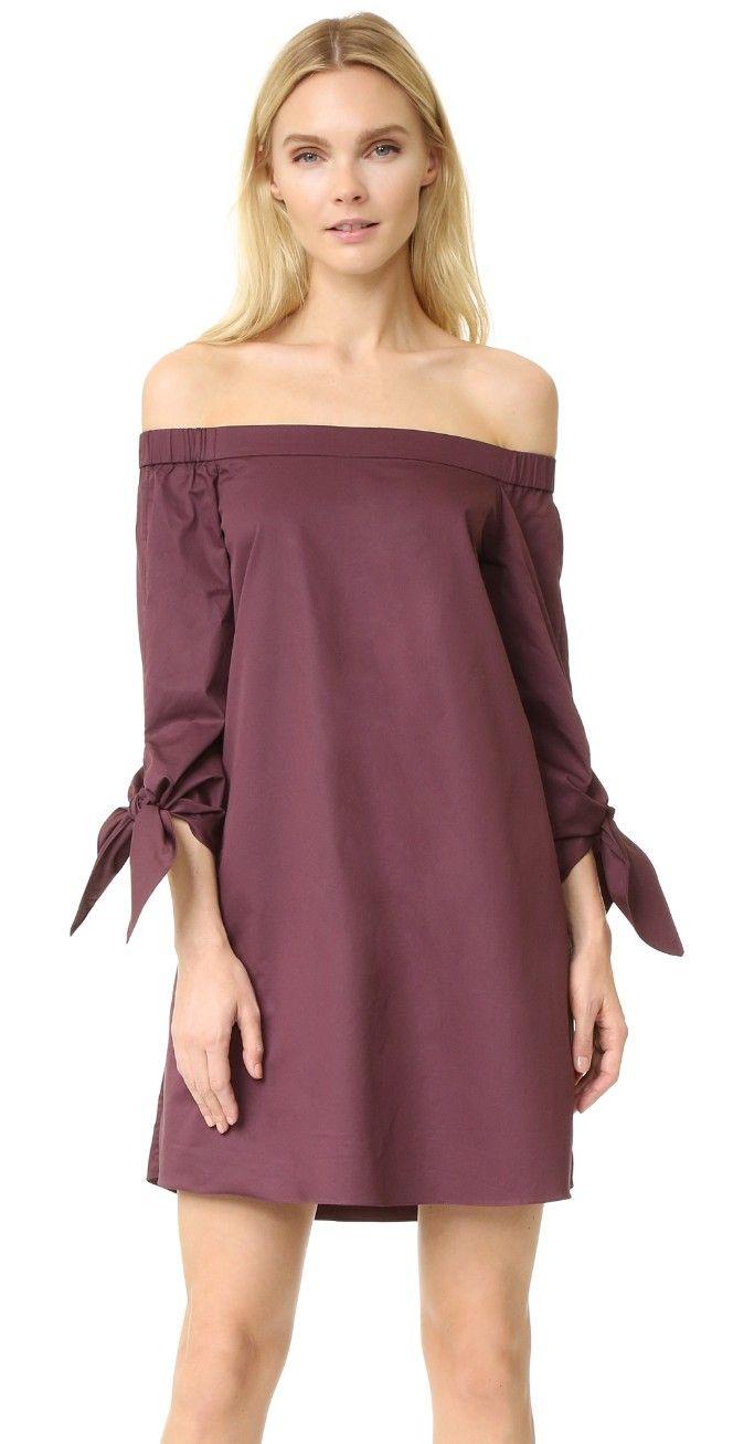 61d195b889df Tibi Off Shoulder Tie Sleeve Dress
