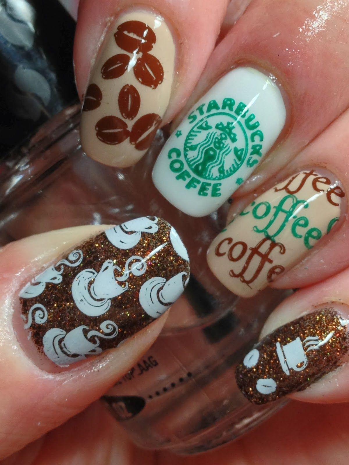 Starbucks Nail Art Nails In 2019 Nails Starbucks Nails