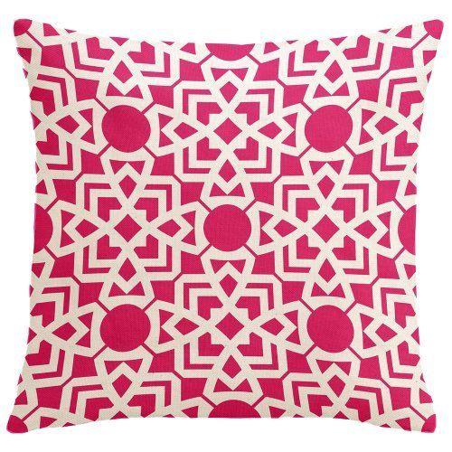 "Karina-Hollywood 18"" x 18"" Pink, Fuschia Geometric Moroccan Decorative Pillow cover by BD Lifestyles, http://www.amazon.com/dp/B006C6IPAI/ref=cm_sw_r_pi_dp_PYUdsb103KJF7"