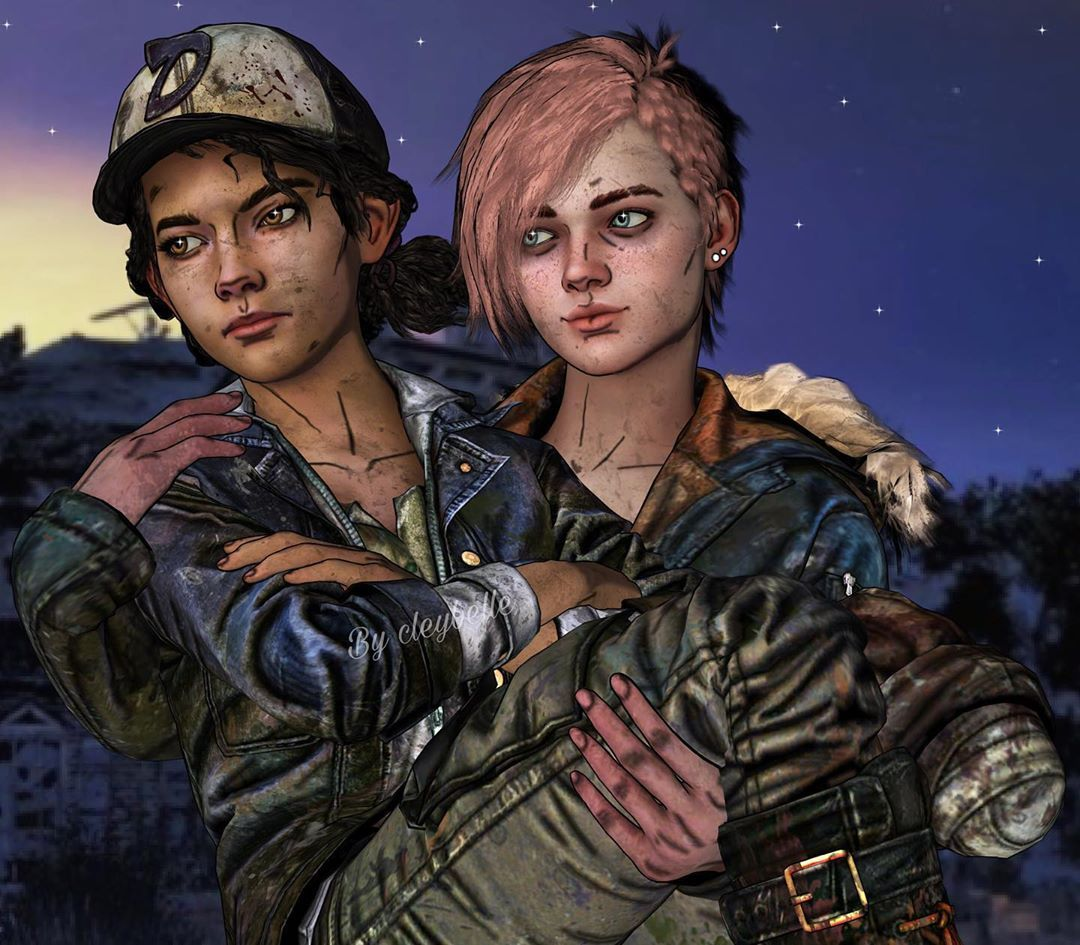 Made Some Clemerva For My Friend Leetheurbaneverett Decided To Remake My First Minnie X Clem The Walking Dead Telltale The Walking Dead Walking Dead Season