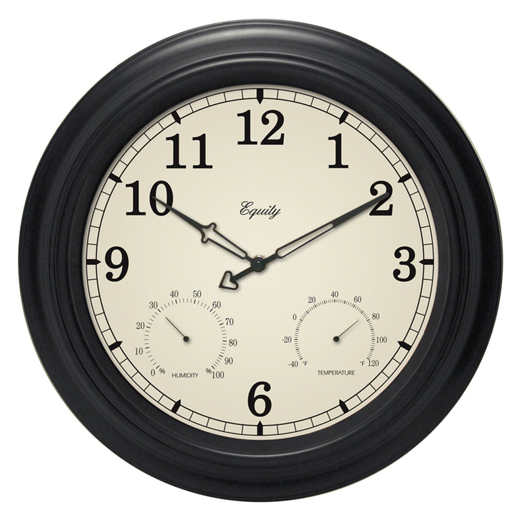 Equity Analog Indoor Outdoor 15 5 In Wall Clock
