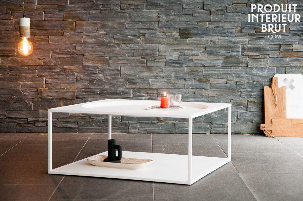 Einfache nordische Akzente und Robustheit eines Metallmöbels - nordische wohnzimmer