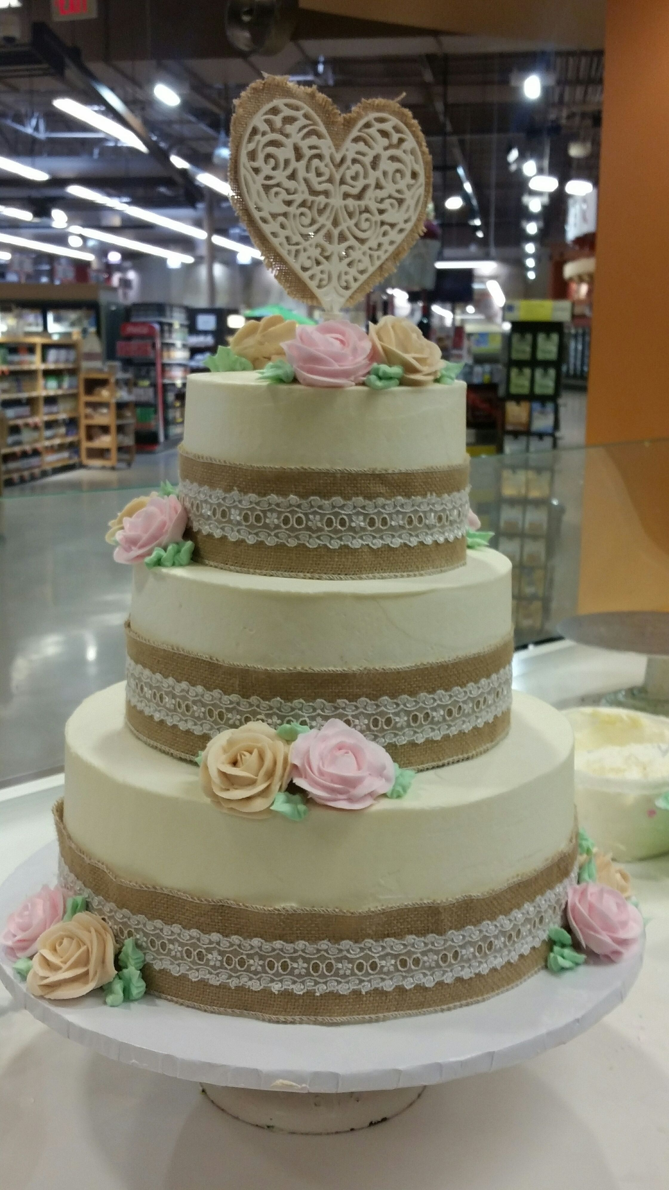 An awesome wedding cake made by our Canton bakery. So