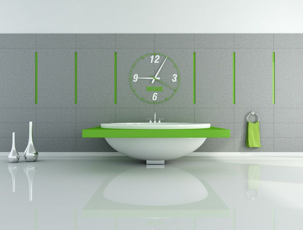 Ever Thought Of A Clock In Your Bathroom? Not A Stopwatch Or A Small Table