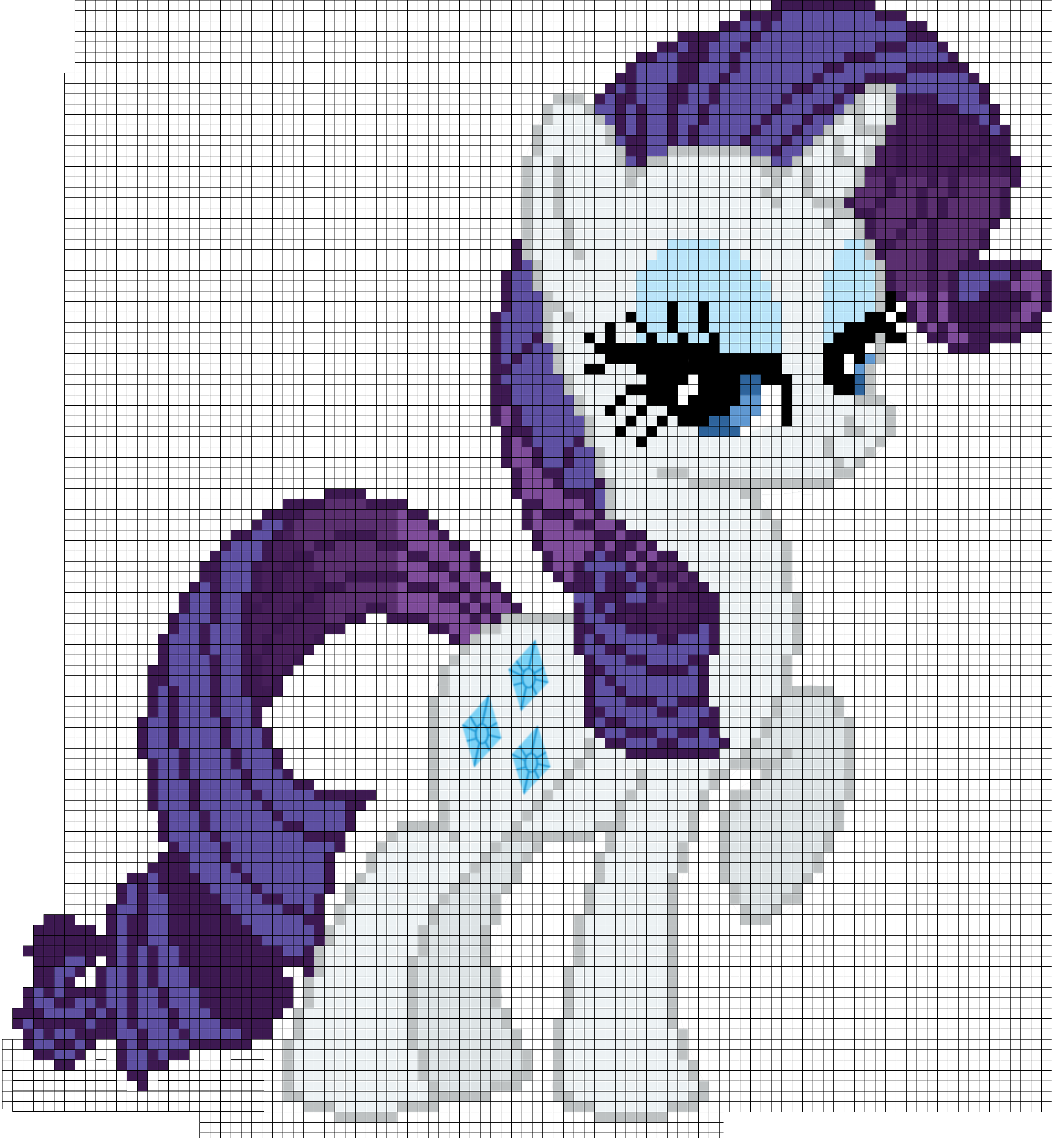 My Little Pony Rarity Cross Stitch Pattern | patrones dibujos ...