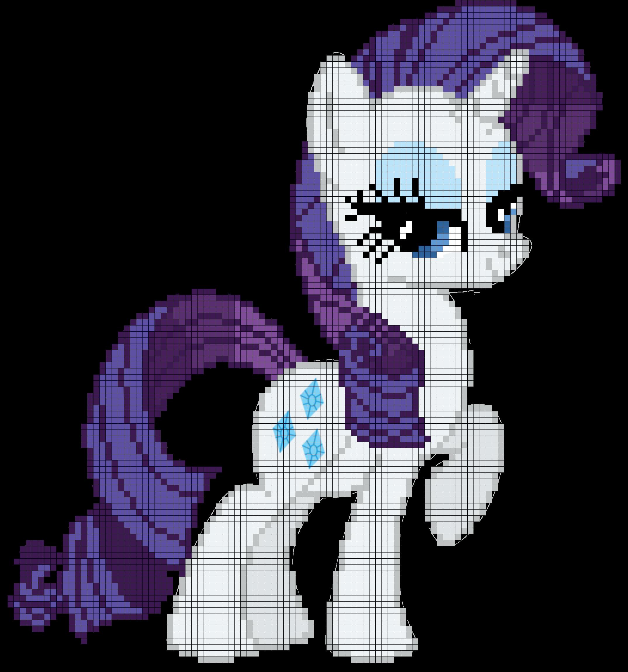 My Little Pony Rarity Cross Stitch Pattern | Pearler bead pony ...