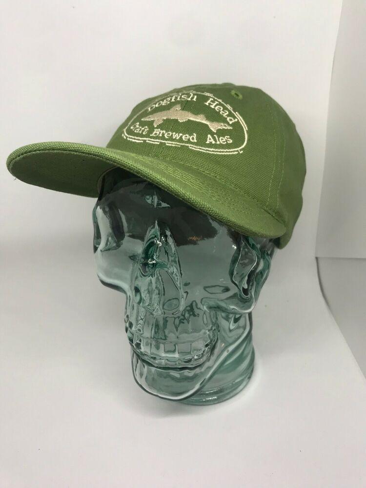 de43c6999bc Dogfish Head Craft Brewed Ales Snapback Hat Green Adjustable Baseball Cap  USA